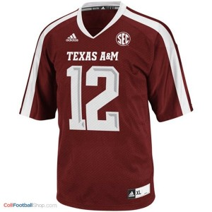 12th Man Texas A&M Aggies #12 Youth - Maroon Red Jersey