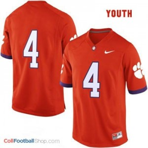 Clemson Tigers #4 College - Orange - Youth Jersey