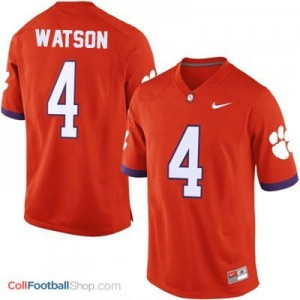 Deshaun Watson Clemson Tigers #4 College - Orange Jersey