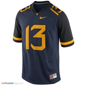 Andrew Buie WVU Mountaineer #13 - Blue Jersey