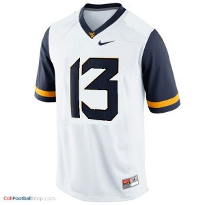Andrew Buie WVU Mountaineer #13 - White Jersey