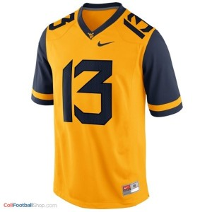 Andrew Buie WVU Mountaineer #13 Youth - Gold Jersey