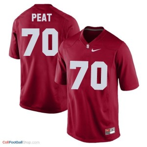 Andrus Peat SU Cardinal #70 Youth - Red Jersey