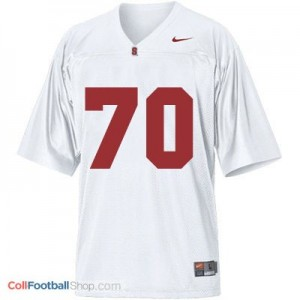 Andrus Peat SU Cardinal #70 Youth - White Jersey