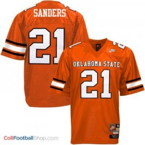 Barry Sanders Oklahoma State Cowboys #21 - Orange Jersey