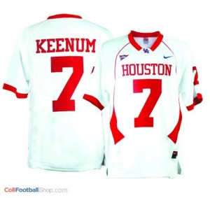 Case Keenum Houston Cougars #7 Youth - White Jersey