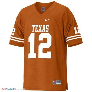 Colt McCoy Texas Longhorns #12 Youth - Orange Jersey