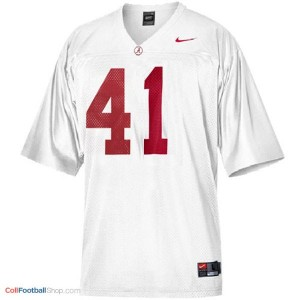 Courtney Upshaw University of Alabama #41 Youth - White Jersey