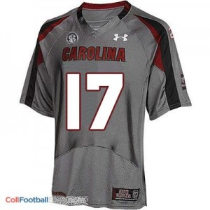 Dylan Thompson USC Gamecock #17 Youth - Gray Jersey
