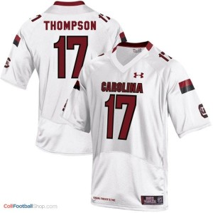 Dylan Thompson USC Gamecock #17 Youth - White Jersey