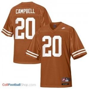 Earl Campbell Texas Longhorns #20 Youth - Orange Jersey