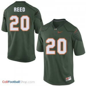 Ed Reed Miami Hurricanes #20 Youth - Green Jersey