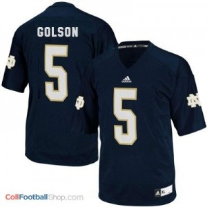 Everett Golson ND Irish #5 Youth - Blue Jersey