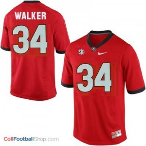 Herschel Walker Georgia Bulldogs #34 Youth - Red Jersey
