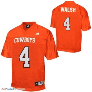 J.W. Walsh Oklahoma State Cowboys #4 - Orange Jersey
