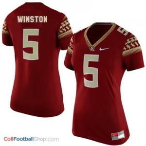 Jameis Winston Florida State #5 Women - Garnet Red Jersey