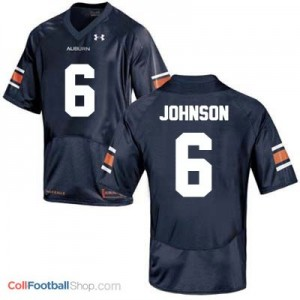 Jeremy Johnson AU Tigers #6 College - Blue Jersey