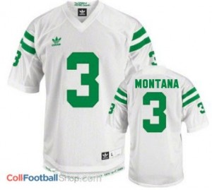 Joe Montana ND Irish #3 Youth - White Jersey