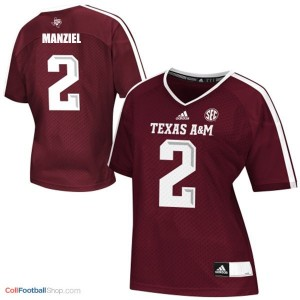 Johnny Manziel Texas A&M Aggies #2 Women - Maroon Red Jersey