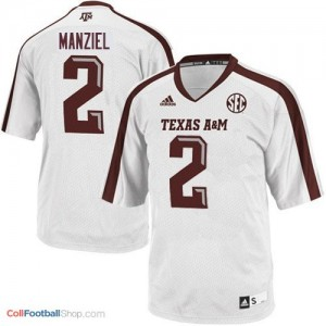 Johnny Manziel Texas A&M Aggies #2 Youth - White Jersey