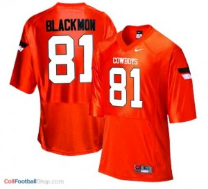 Justin Blackmon Oklahoma State Cowboys #81 - Orange Jersey