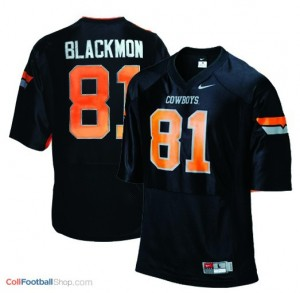 Justin Blackmon Oklahoma State Cowboys #81 Youth - Black Jersey