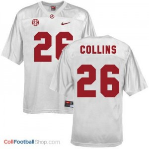 Landon Collins UA Crimson Tide #26 Youth - White Jersey