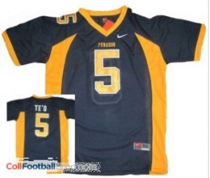 Manti Te'o Punahou High School(Honolulu) #5 Blue Jersey