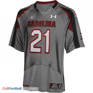Marcus Lattimore USC Gamecock #21 Youth - Gray Jersey