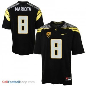 Marcus Mariota UO Duck 2014 #8 Mach Speed - Black Jersey