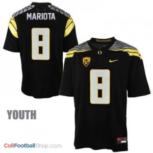 Marcus Mariota UO Duck 2014 #8 Mach Speed Youth - Black Jersey