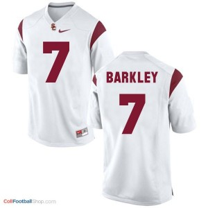 Matt Barkley USC Trojans #7 Youth - White Jersey