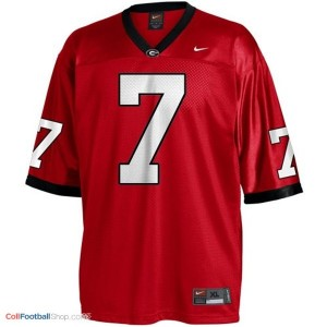 Matthew Stafford Georgia Bulldogs #7 Youth - Red Jersey