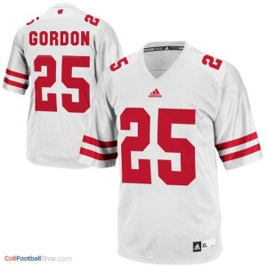 Melvin Gordon UW Badger #25 Youth - White Jersey