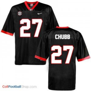 Nick Chubb Georgia Bulldogs #27 - Black Jersey