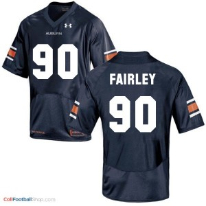 Nick Fairley AU Tigers #90 - Navy Blue Jersey