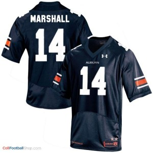 Nick Marshall AU Tigers #14 - Navy Blue Jersey
