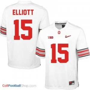 Ezekiel Elliott OSU #15 Diamond Quest Playoff - White Jersey