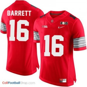 J.T. Barrett OSU #16 Diamond Quest 2015 Patch College - Scarlet Jersey