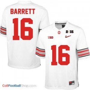 J.T. Barrett OSU #16 Diamond Quest 2015 Patch College - White Jersey