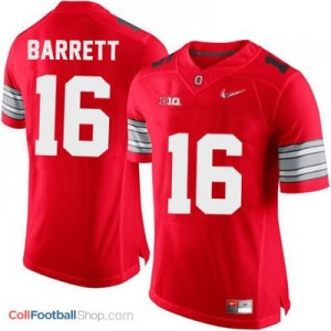 J.T. Barrett OSU #16 Diamond Quest Playoff - Scarlet Red Jersey
