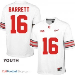 J.T. Barrett OSU #16 Diamond Quest Playoff - White - Youth Jersey