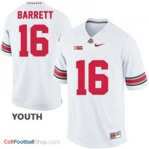 J.T. Barrett OSU Buckeye #16 - White - Youth Jersey