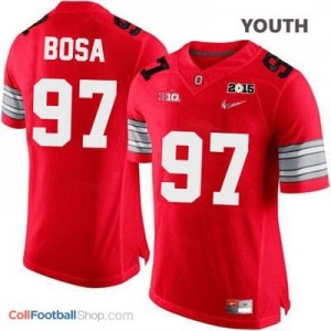 Joey Bosa OSU #97 Diamond Quest 2015 Patch College - Scarlet - Youth Jersey