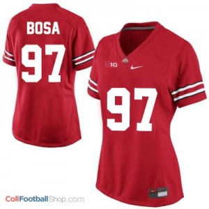 Joey Bosa OSU Buckeye #97 Women's - Red Jersey