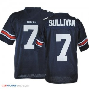 Pat Sullivan AU Tigers #7 Youth - Navy Blue Jersey