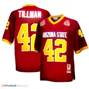 Pat Tillman (ASU) #42 1997 Rose Bowl Vintage Youth - Red Jersey