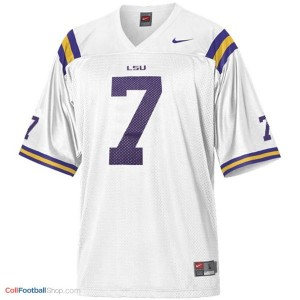 Patrick Peterson LSU Tigers #7 Mesh Youth - White Jersey