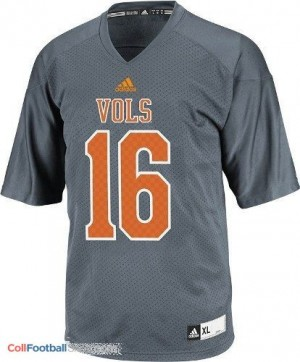 Peyton Manning Tennessee Volunteers #16 Youth - Gray Jersey