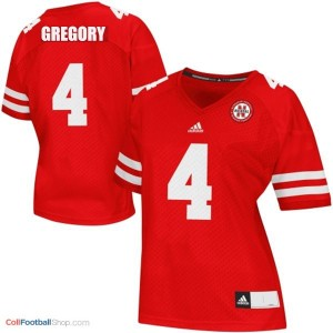 Randy Gregory UN Cornhuskers #4 Women - Red Jersey